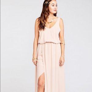 Show Me Your Mumu Kendall Maxi Dress Dusty Blush